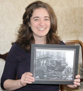 Dr Nicola Dann with the photograph she discovered